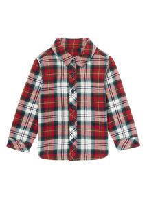 Red Dexter Dog Lined Shirt (0-24 months)