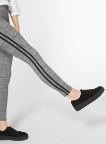 Grey Side Stripe Leggings