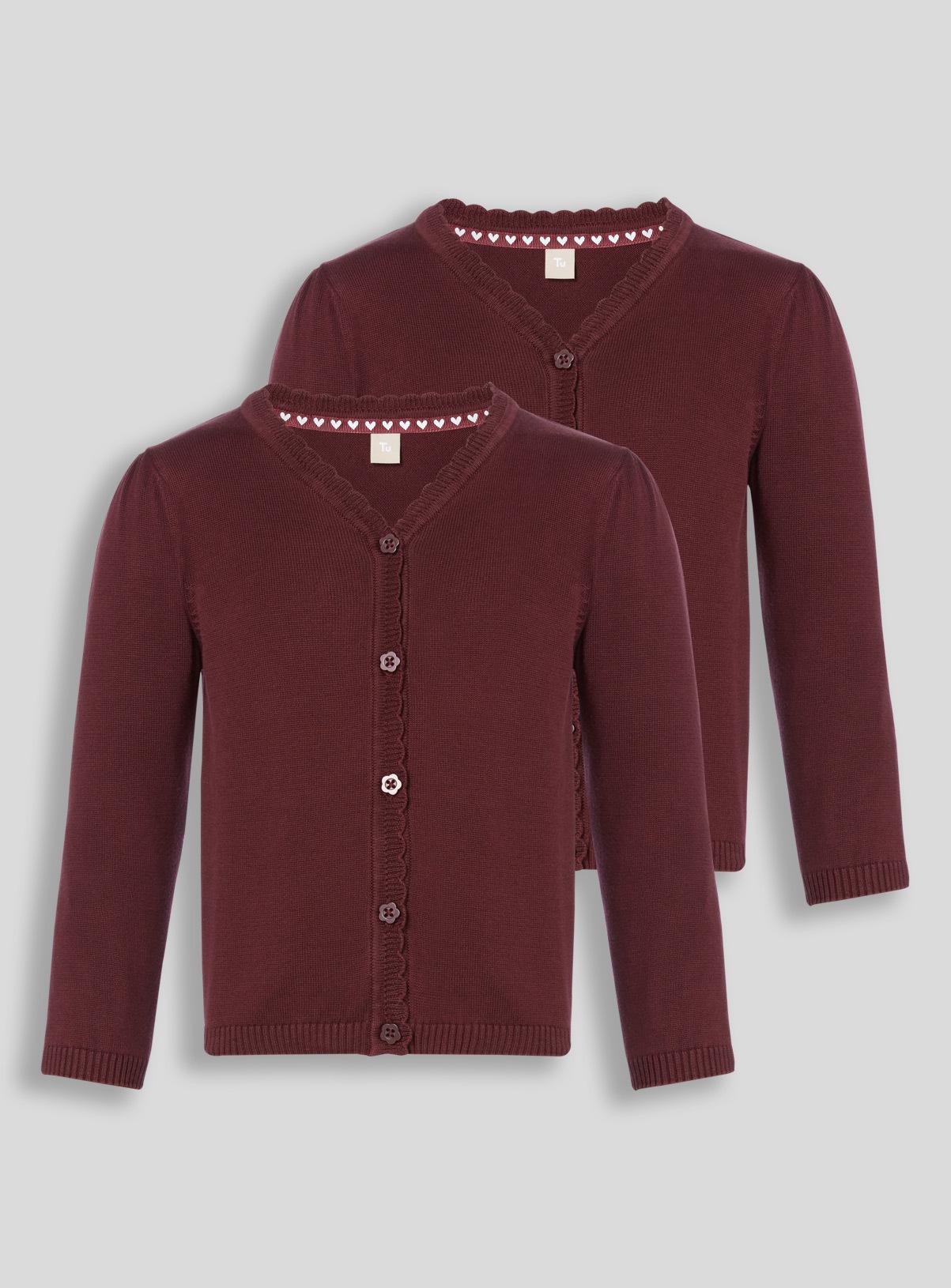 All Girl's Clothing Dark Red Cardigan 2 Pack (2-12 years) | Tu ...