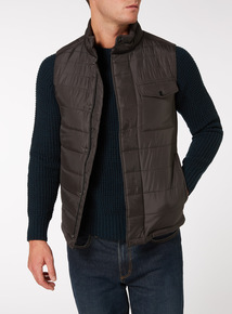 Grey Quilted Thermolite Gilet