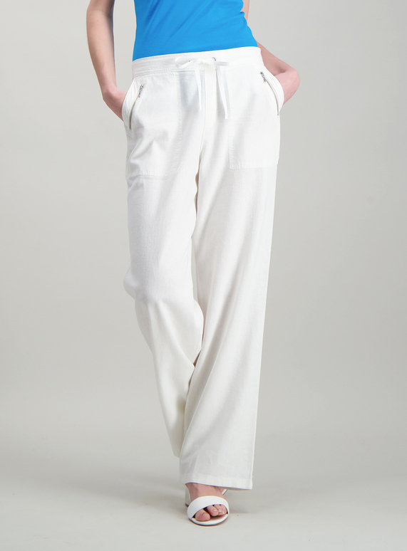 wholesale online modern design outlet sale SKU CORE LINEN TROUSER:White