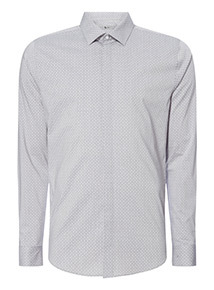Grey Geo Stretch Shirt