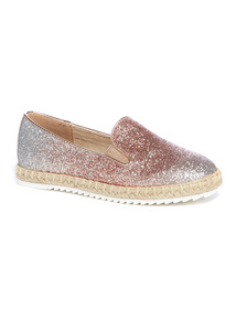 Pink Ombre Glitter Espadrille Skater Shoes