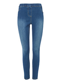 Mid Denim Stretch Jeggings