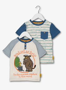 The Gruffalo Multicoloured T-Shirts 2 Pack (9 Months - 6 Years)