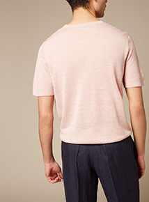 Premium Pink Textured T-Shirt