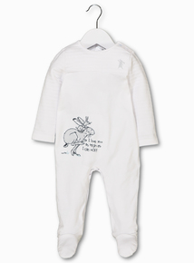 Online Exclusive Guess How Much I Love You White Sleepsuit (Newborn - 24 months)