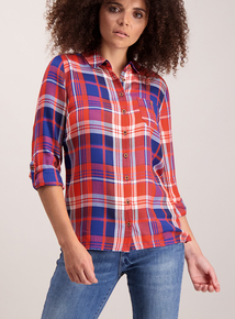 College Look Check Long Sleeve Shirt