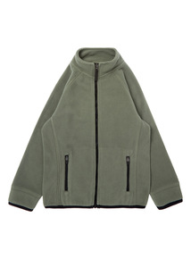 Boys Khaki Zip Through Fleece (3-12 Years)