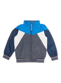 Multicoloured Lightweight Colour Block Jacket (3 - 14 years)