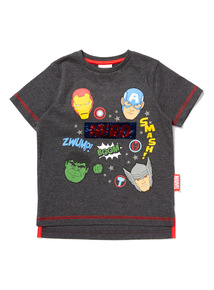 Grey Disney Marvel Avengers Sequin T-Shirt (9 months-6 years)