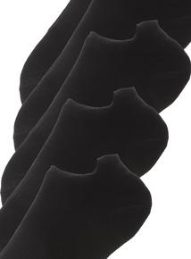 5 Pack Black Blister Resist Trainer Socks