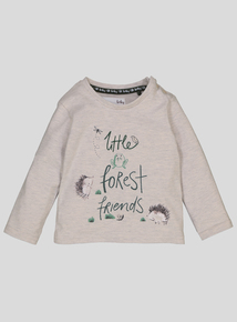 Oatmeal Animal Print Long Sleeve Top (0-24 months)