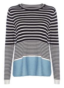 Navy Breton Stripe Jumper