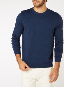 Navy Knitted Jumper