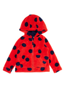 Girls Red Spot Fleece (9 months-6 years)