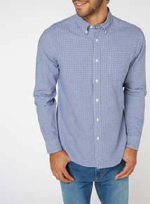 Navy Gingham Shirt