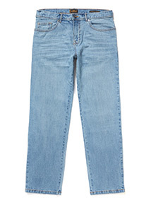 Summer Blue Straight Fit Jeans With Stretch