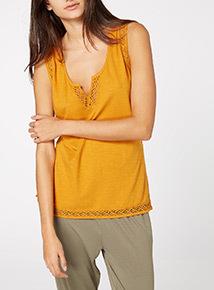 Yellow Acid Wash Vest