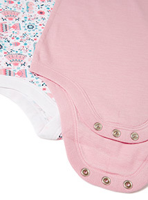 2 Pack Multicoloured Bodysuits (0-24 months)