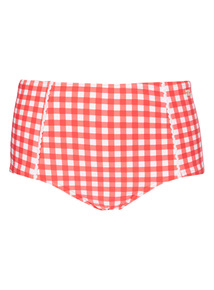Gok Gingham High Waist Tummy Control Bikini Briefs