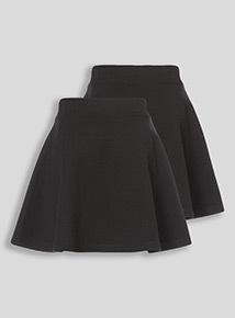 Black Jersey Skirts 2 Pack (3-12 years)