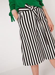 GFW Tie Belt Stripe Culottes