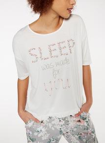 Sleep Ruffled Hem T-Shirt