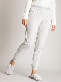 Grey Marl Cuffed Pyjama Bottoms