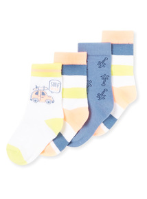 4 Pack Multicoloured Socks (1-24 Months)