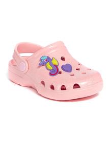 Pink Seahorse Clog Shoes
