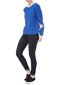 Blue Circle Stitch Jumper