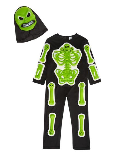 Halloween Skeleton Costume Kids.Sku Eva Skeleton Glow In The Dark Black