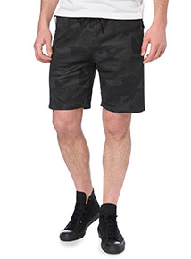 Black Camouflage Shorts