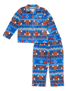 Blue Gruffalo Fairisle Woven Pyjama Set (1-6 years)