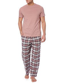 Pink And Grey Pyjama Set