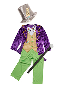 Multi-coloured Willy Wonka Costume