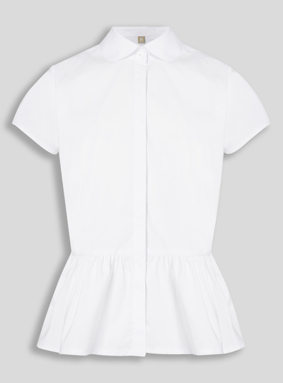 White Peplum Blouse (10 - 16 years)