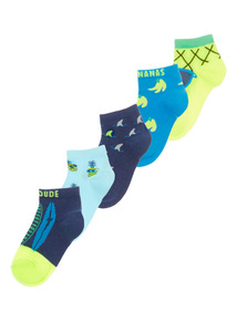 Tropicana Surf Trainer Socks 5 Pack