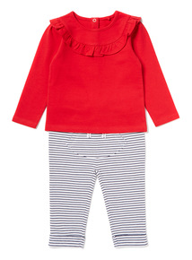 Multicoloured Ruffle Top and Joggers Set (0-24 months)