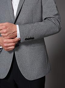 Grey Shawl Collar Jacket