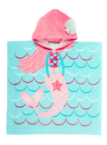 Girls Mermaid Poncho