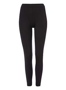 PETITE Black Cotton Modal Leggings