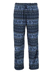 Navy Winter Scene Pyjama Bottoms