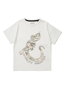 White Lizard Print T-Shirt (9 months-6 years)