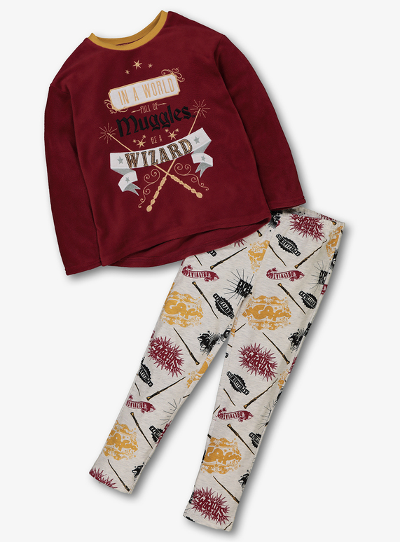 ecbc49de0a Kids Harry Potter Burgundy  Wizard  Pyjamas (4-12 years)