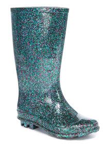 Multi-Coloured Glitter Wellies