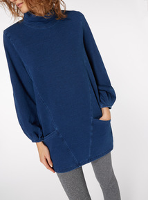 Funnel Neck Sweat Tunic