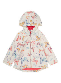 White Butterfly Mac Raincoat (9 months - 6 years)