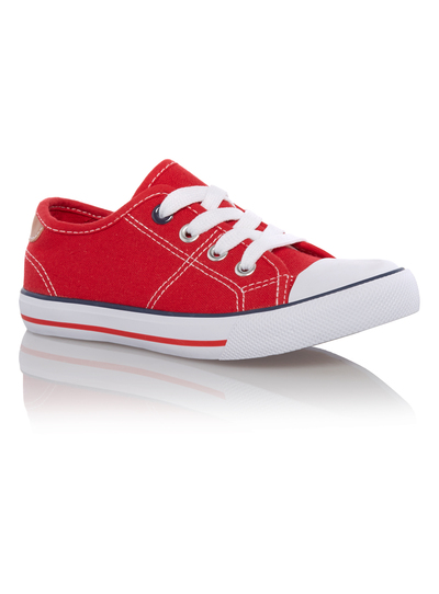 f0e3d50f Kids Boys Red Canvas Shoes | Tu clothing